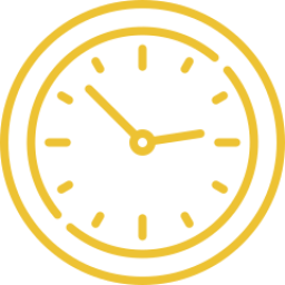 An icon depicting a clock.