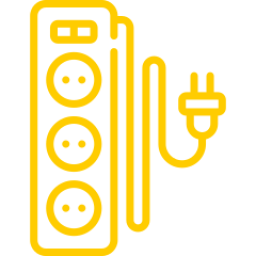 An icon depicting an extension cable.