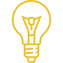 An icon depicting a bulb.