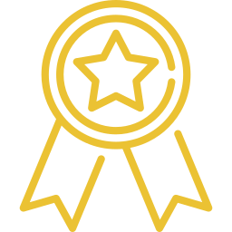 An icon depicting a certification.
