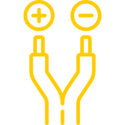 An icon depicting a wire.