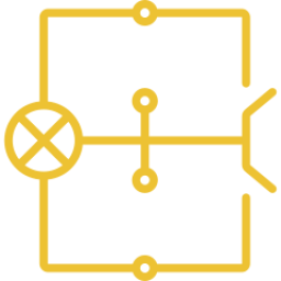 An icon depicting a wire circuit.